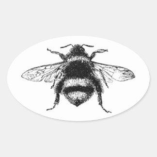 Sticker Ovale Le classique gaffent l'abeille
