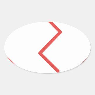 Sticker Ovale Le coeur brisé