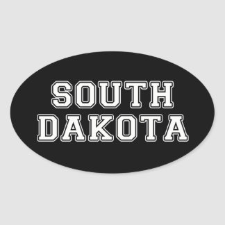 Sticker Ovale Le Dakota du Sud
