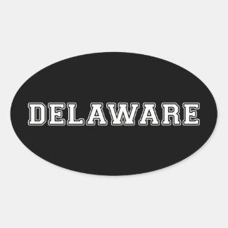Sticker Ovale Le Delaware