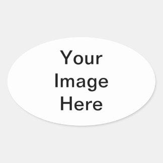 Sticker Ovale Le do-it-yourself personnalisent votre propre