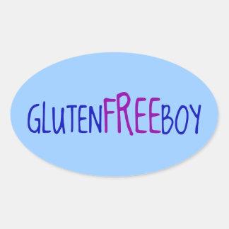Sticker Ovale Le gluten libèrent le garçon
