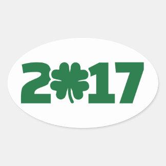 Sticker Ovale Le jour 2017 de St Patrick