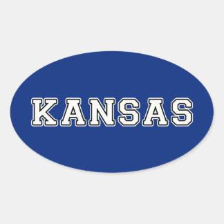 Sticker Ovale Le Kansas