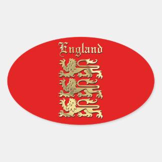 Sticker Ovale Le manteau de l'Angleterre des bras