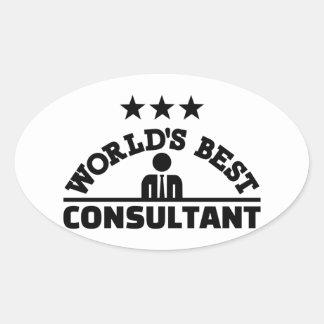 Sticker Ovale Le meilleur consultant en matière du monde