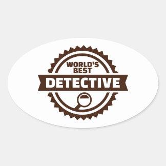 Sticker Ovale Le meilleur détective du monde