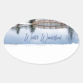 Sticker Ovale Le pays des merveilles d'hiver