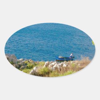Sticker Ovale Le pêcheur sicilien