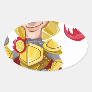 Sticker Ovale Le Roi prince Armor