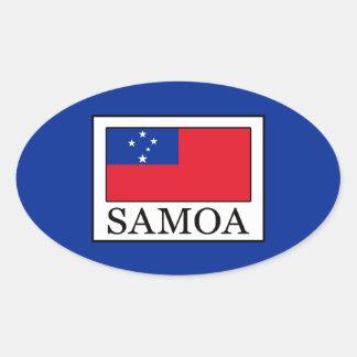 Sticker Ovale Le Samoa