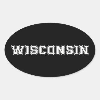 Sticker Ovale Le Wisconsin