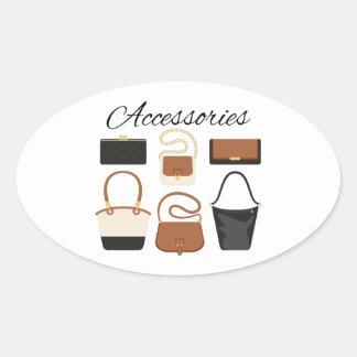 Sticker Ovale Les accessoires des femmes