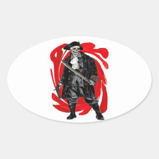 Sticker Ovale Les hommes morts ne disent aucun conte