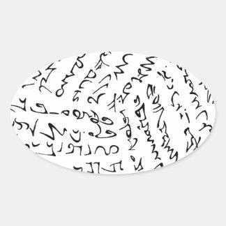 Sticker Ovale Les mots sont magiques