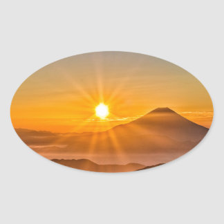 Sticker Ovale Lever de soleil