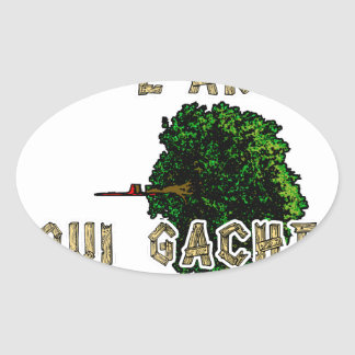 Sticker Ovale L'Homme est l'Arbre qui Gâche la Forêt