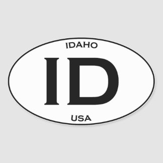 Sticker Ovale L'Idaho Etats-Unis