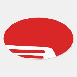 Sticker Ovale Livre rouge