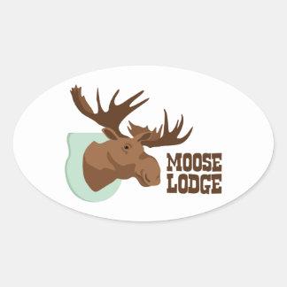 Sticker Ovale Loge d'orignaux