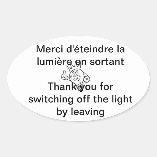 Sticker Ovale lumière