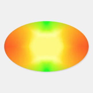 Sticker Ovale L'univers de division