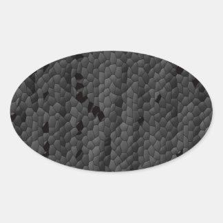 Sticker Ovale Mamba noir dans illustré, art