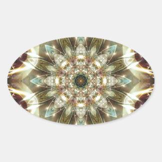 Sticker Ovale Mandalas du coeur du changement 10, articles de