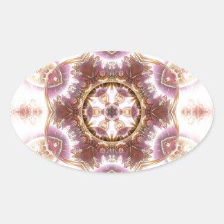 Sticker Ovale Mandalas du coeur du changement 14, articles de