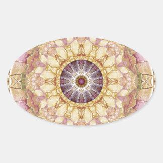 Sticker Ovale Mandalas du coeur du changement 2, articles de