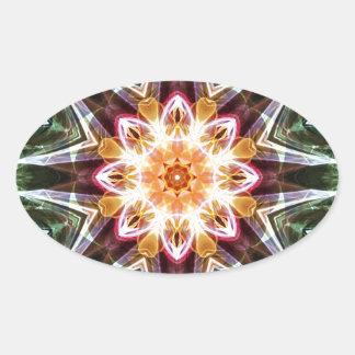 Sticker Ovale Mandalas du coeur du changement 5, articles de
