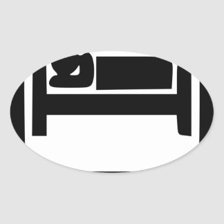 STICKER OVALE MANGEZ SLEEP15