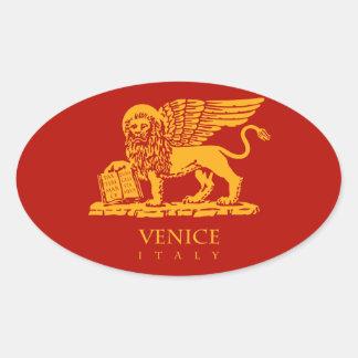 Sticker Ovale Manteau de Venise des bras