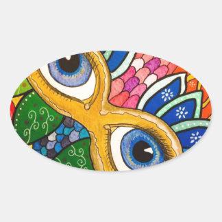 Sticker Ovale Masque vénitien