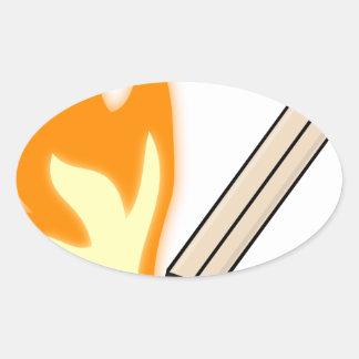 Sticker Ovale Match flamboyant