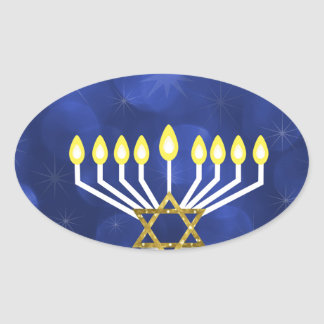 Sticker Ovale Menorah