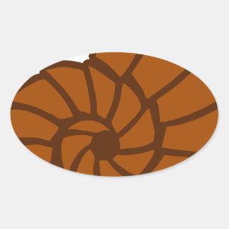 Sticker Ovale Mer Shell