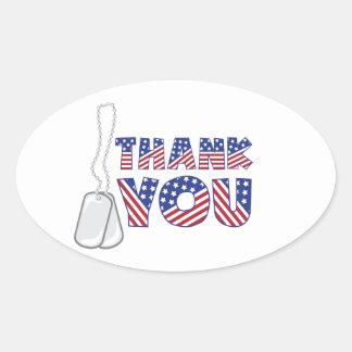 Sticker Ovale Merci