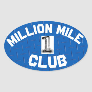 STICKER OVALE MILLION D'AUTOCOLLANT DE CLUB DE MILLE