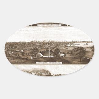 Sticker Ovale Milwaukee 1882