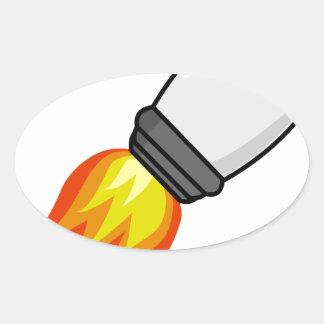 Sticker Ovale Missile de Rocket