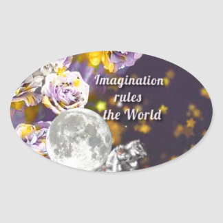 Sticker Ovale Mon imagination est sans fin