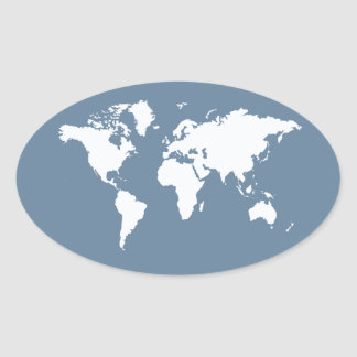 Sticker Ovale Monde élégant gris français