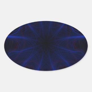 Sticker Ovale motif bleu de laser