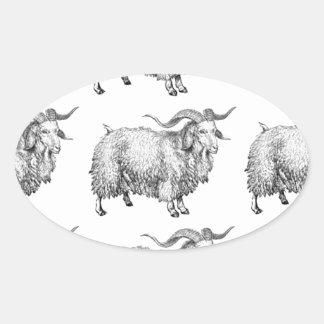 Sticker Ovale motif de la vieille RAM