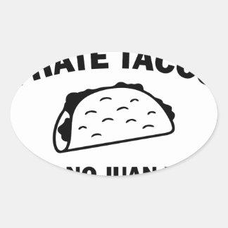 Sticker Ovale N'a dit aucun Juan jamais