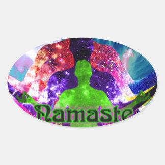 Sticker Ovale Namaste