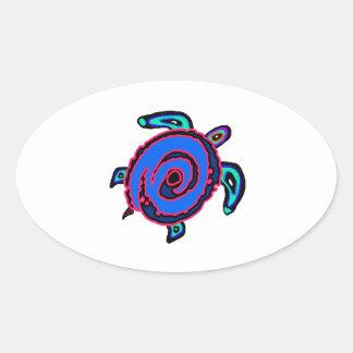Sticker Ovale Navigation tribale