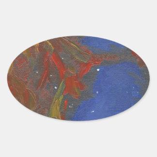 Sticker Ovale Nébuleuse