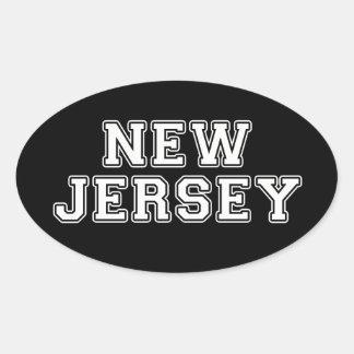 Sticker Ovale New Jersey